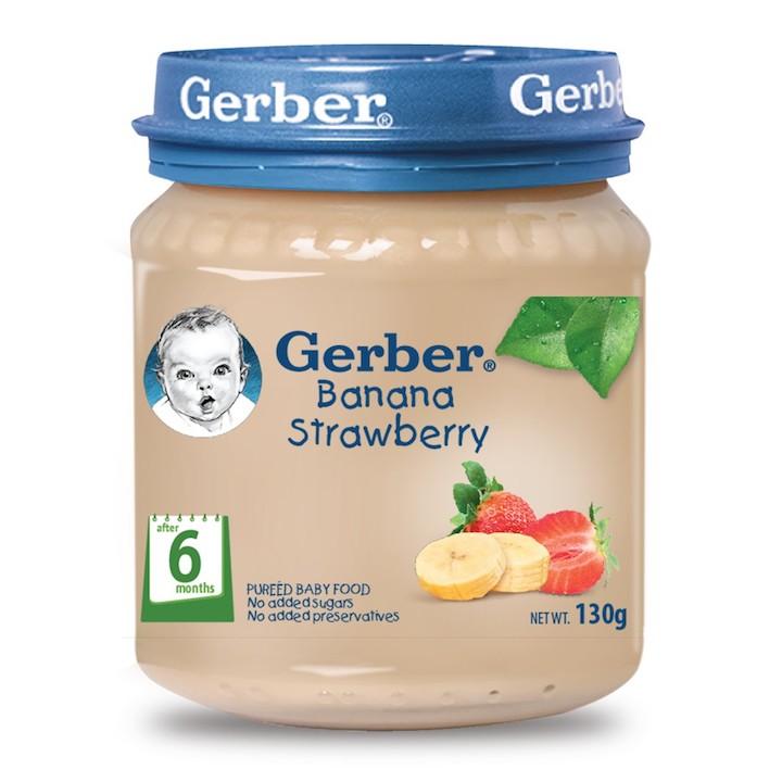 Gerber Baby Food Banana Strawberry 130g Feta