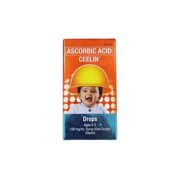 Ascorbic Acid Ceelin Ages 0-2 100 mg:mL 30 ml Oral Drops Feta