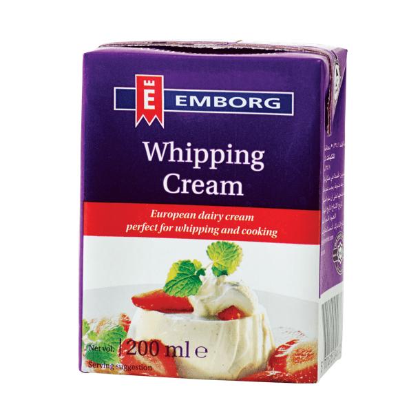 Emborg UHT Whipping Cream 200ml Feta