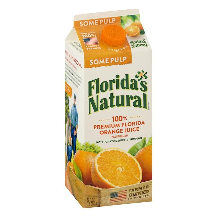 Florida's Natural 100% Premium Florida Orange Juice Some Pulp, 52.0 FL OZ Feta