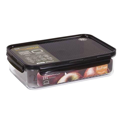 Lock and Lock Bisfree Modular Rectangular Food Container 2.1L Feta