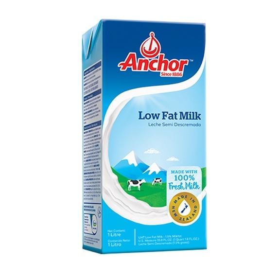 Anchor Low Fat Milk UHT Plain 1L Feta