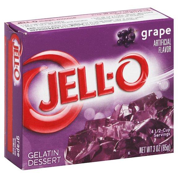 Jell-O Grape Gelatin Dessert Mix 170g Feta