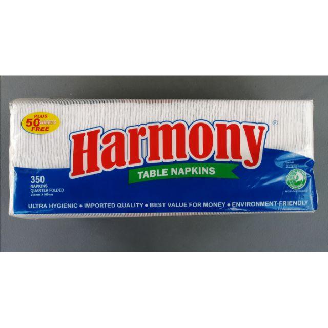 Harmony Quarterfolded Napkins 350s + 50s Feta